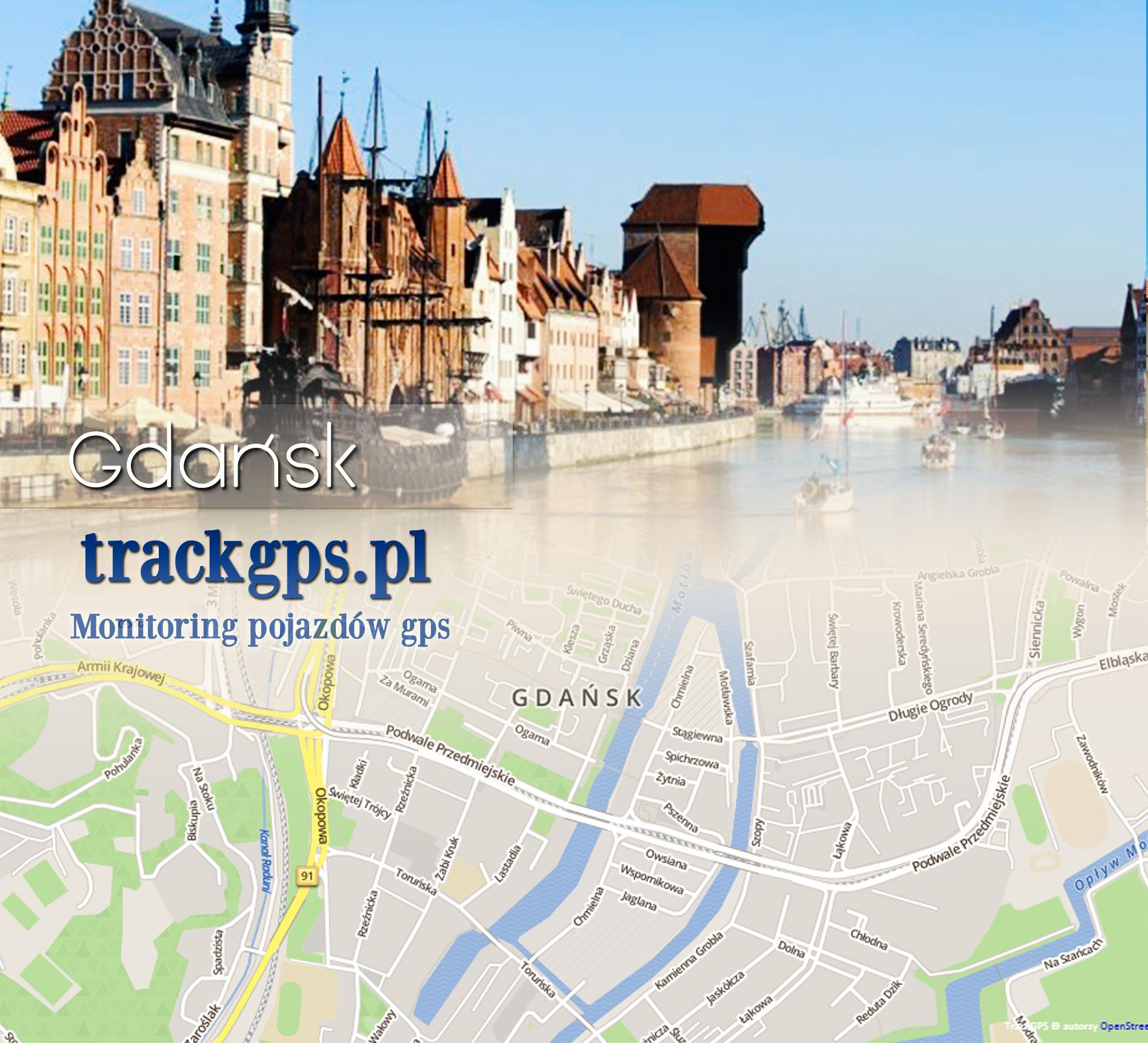 mapa gdansk